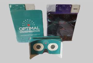 cardboard personalizzati smart goggle focale regolabile