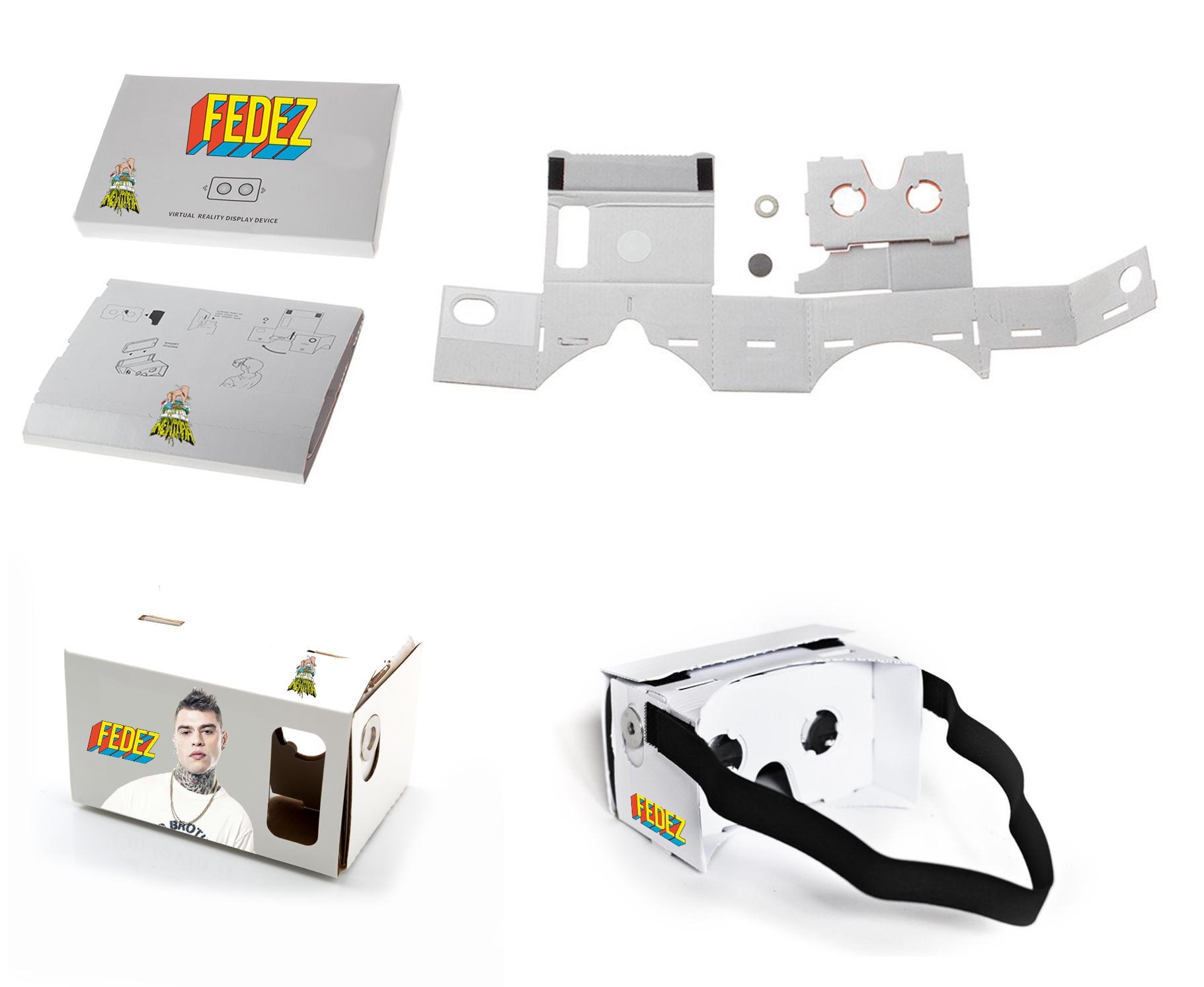 Augmenta occhiali cartone Google Cardboard per applicazioni di realtà virtuale - occhiali personalizzati per realta virtuale immersiva