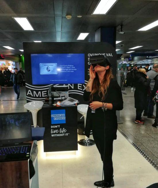 VR in Aeroporto per Officine Unipersonale e AMEX @ Linate Aereoporto – Supporto Tecnico on site + Noleggio Hardware