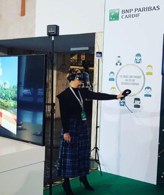 Convention Aziendale BNP PARIBAS @ Roma Palazzo dei congressi – Noleggio VR e supporto tecnico